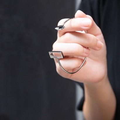 抗過敏不鏽鋼硬手環|天生一對
