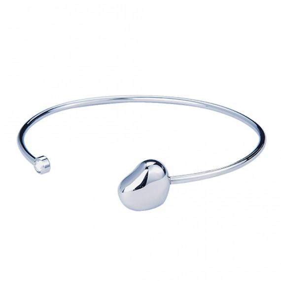 抗過敏不鏽鋼硬手環|單邊鑲石 淘氣胖胖心