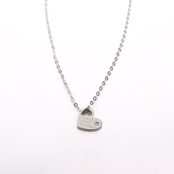 抗過敏項鍊|法國浪漫 白鋼愛心項鍊