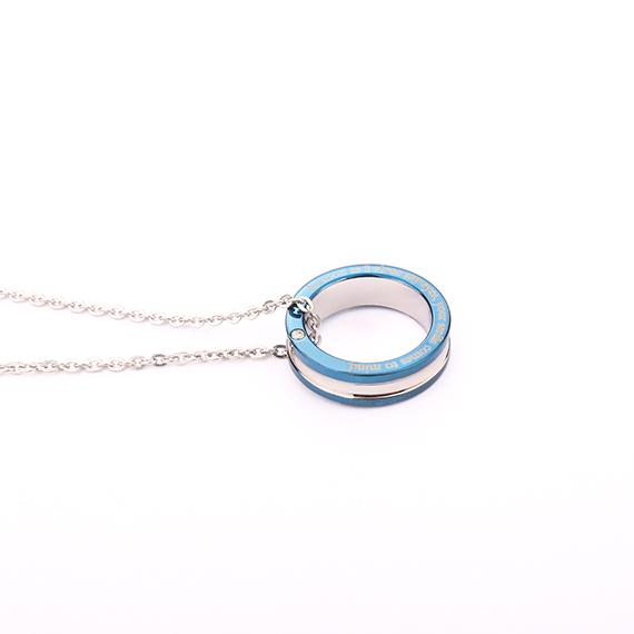 抗過敏項鍊|浪漫情話 藍鋼雙色項鍊