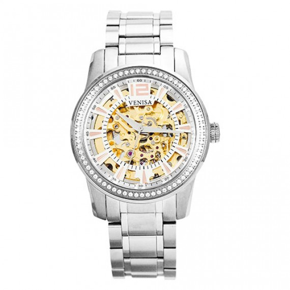 母親節禮物|機械錶 璀璨雅致 鋼色鋼帶