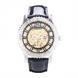 機械錶|鋼色  黑色鱷魚皮帶 深邃黑秒數圈