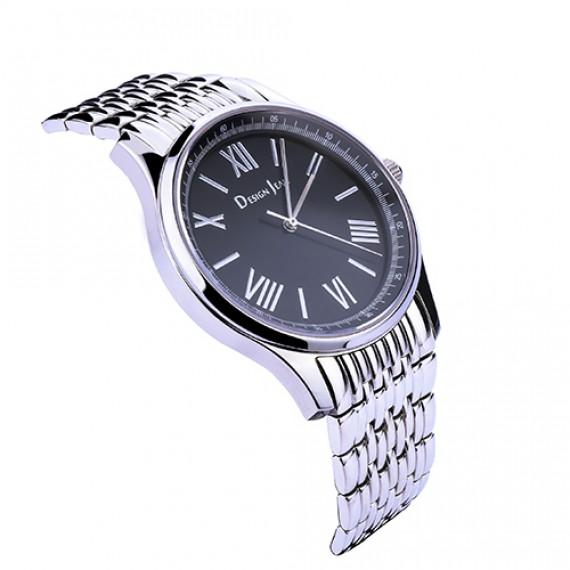 男錶|萬年經典簡約腕錶 鋼帶黑面
