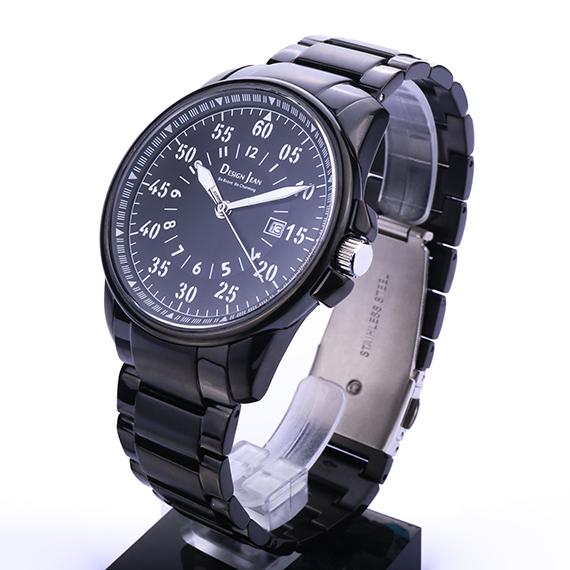 男錶|酷帥黑時尚 深邃黑鋼帶