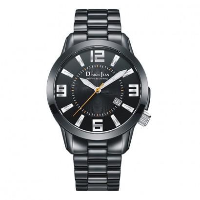 男錶|黑亮霸氣商務錶  深邃黑鋼帶