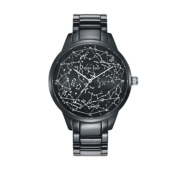 女錶|夜光繁星 浪漫銀河 深邃黑鋼帶