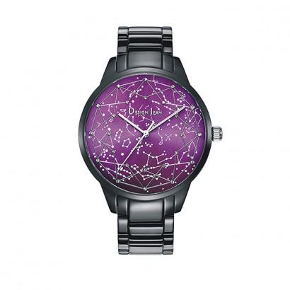 男錶|夜光繁星 浪漫銀河 深邃黑鋼帶