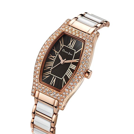 母親節禮物|陶瓷錶 黑金女王鑲鑽