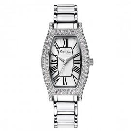 女錶|陶瓷錶 浪漫純白鑲鑽