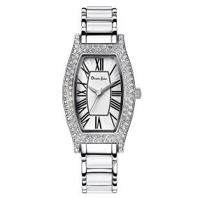 女錶 陶瓷錶 浪漫純白鑲鑽