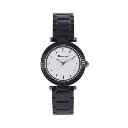 女錶|輕時尚 經典黑白配 鍍黑鋼帶