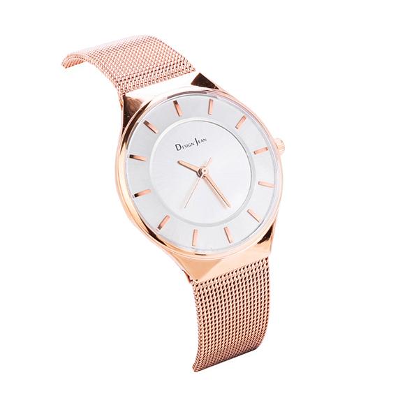 女錶|玫瑰金 經典氣質米蘭帶 氣質白