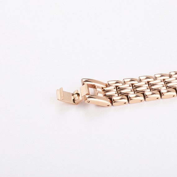母親節禮物|華麗晶石錶圈 玫瑰金經典鋼帶