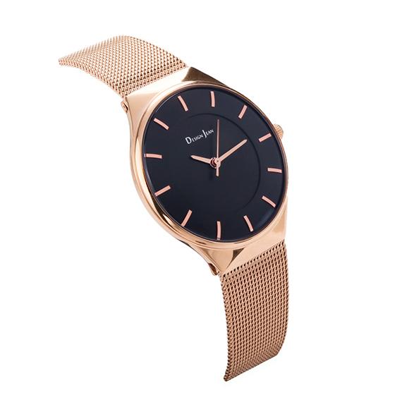 女錶|玫瑰金 經典氣質米蘭帶 魅力黑