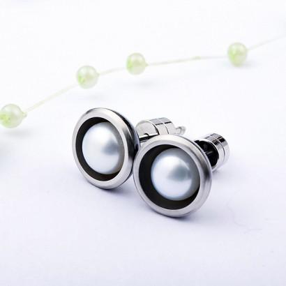 抗過敏耳環|簡約珍珠 抗過敏耳環