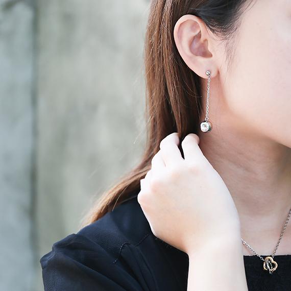 抗過敏長耳環|閃亮吸睛鋼珠